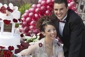 Happy Quinceanera With Partner — Stock Photo
