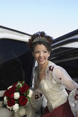 Quinceanera Getting In Car — Stock Photo