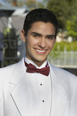Young Man In White Tuxedo At Quinceanera — Stock Photo