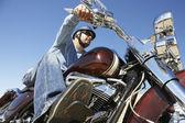 Moto équitation homme — Photo