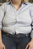 Obese Woman Sitting — Stock Photo