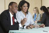 Businesspeople At Conference Meeting — Stock Photo