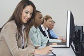 Business Using Computers In Classroom — Stock Photo