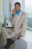 Happy Businessman On Call — Stock Photo