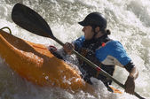 Whitewater Kayaker — Stock Photo