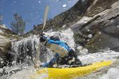 Man Kayaking — Stock Photo