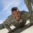 Soldier Doing Pushups - Stock Photo