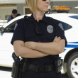 Police Officer Wearing Sunglasses — Stock Photo #21800447