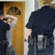 Police Officer Arresting Young Man — Stock Photo #21800509