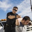 Police Officer Arresting Young Man — Stock Photo #21800991