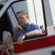 Paramedic Using CB Radio — Stock Photo #21801047