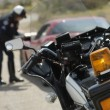 Traffic cop's motorcycle — Stock Photo #21801211
