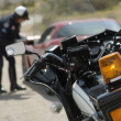 Traffic cop's motorcycle — Stock Photo