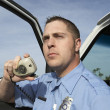 Paramedic Using CB Radio — Stock Photo #21801337