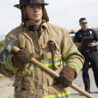 Firefighter With Police Officer — Stock Photo #21801367