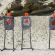 Stock Photo: Three Targets At Firing Range