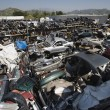 Broken Down Cars At Junkyard — Stock Photo #21802071