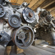 Car Engines In Junkyard — Stock Photo