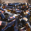 Stock Photo: Thrashed Glass Bottles