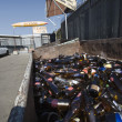 Stock Photo: Glass Bottles At Scrapyard