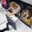 Stock Photo: Multiethnic Students In Computer Lab