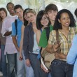 Row Of Students And Teacher At Corridor — Stock Photo #21802601