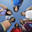 Female College Students Standing In Circle — Stock Photo #21802839