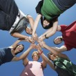 Group Of Young In Circle — Stock Photo #21803011