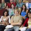 Stock Photo: Group Of Sitting In Classroom