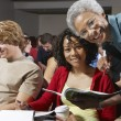 Senior Teacher And Students In Classroom — Stock Photo