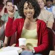 Female Student Answering In Class — Stock Photo