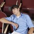 Stock Photo: Student Sleeping in classroom
