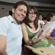 Friends Sitting Together In Classroom — Stock Photo #21803263