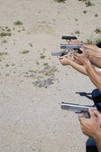 Aiming Guns At Firing Range — Stock Photo