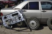 Damaged Car And Parts — Stock Photo