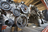Car Engines In Junkyard — Stock Photo
