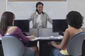 Students With Teacher In Classroom — Stock Photo