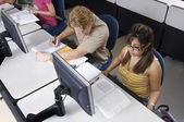 Multiethnic Students In Computer Lab — Stock Photo