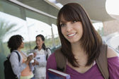 Young Female Student Looking Away — Stock Photo