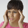 Woman With Severe Headache — Stock Photo