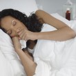 Woman With Flu Lying In Bed — Stock Photo #21819579