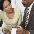 Stock Photo: Accountant with Client