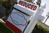 Real Estate Sign Advertising Reduced Price — Stock Photo