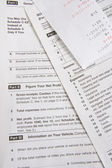 Tax Forms With Receipt — Stock Photo