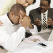 Accountant Giving Couple Bad News — Stock fotografie