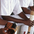 Baseball Players Sitting Together In Dugout — Stock Photo #21821835