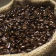 Sack Full Of Coffee Beans — Stock Photo
