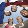 Multiethnic Friends Forming Huddle — Foto de Stock
