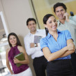 Confident Businesswoman With Colleagues — Stock Photo #21829027
