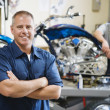 Stock Photo: Motorcycle Shop